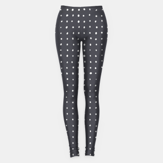 Thumbnail image of Light grey dots on grey Leggings, Live Heroes
