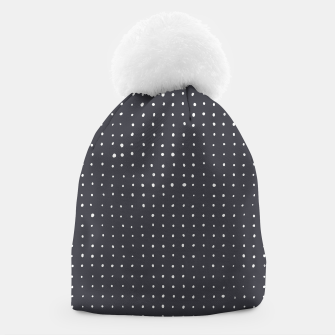 Thumbnail image of Light grey dots on grey Beanie, Live Heroes