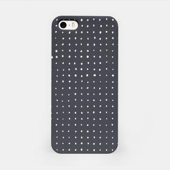 Thumbnail image of Light grey dots on grey iPhone Case, Live Heroes