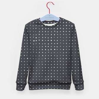 Thumbnail image of Light grey dots on grey Kid's sweater, Live Heroes