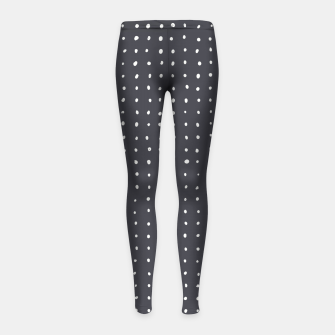 Thumbnail image of Light grey dots on grey Girl's leggings, Live Heroes