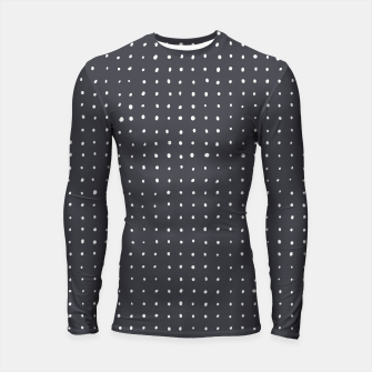 Thumbnail image of Light grey dots on grey Longsleeve rashguard , Live Heroes