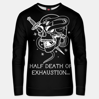 Thumbnail image of HALF DEATH OF EXHAUSTION Sudadera unisex, Live Heroes