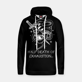 Thumbnail image of HALF DEATH OF EXHAUSTION Sudadera con capucha, Live Heroes