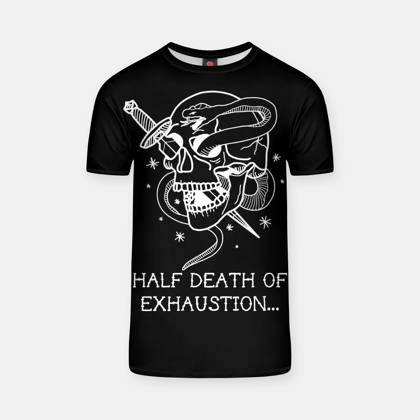 Image of HALF DEATH OF EXHAUSTION Camiseta - Live Heroes