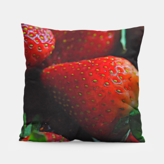 Thumbnail image of Strawberries Pillow, Live Heroes