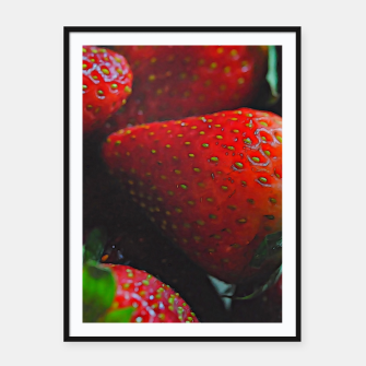 Thumbnail image of Strawberries Framed poster, Live Heroes