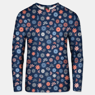 Thumbnail image of Flower Power in Blue  Unisex sweater, Live Heroes