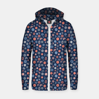 Thumbnail image of Flower Power in Blue  Zip up hoodie, Live Heroes