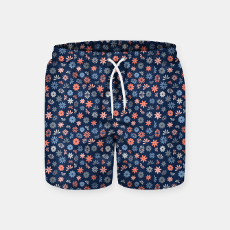 Thumbnail image of Flower Power in Blue  Swim Shorts, Live Heroes