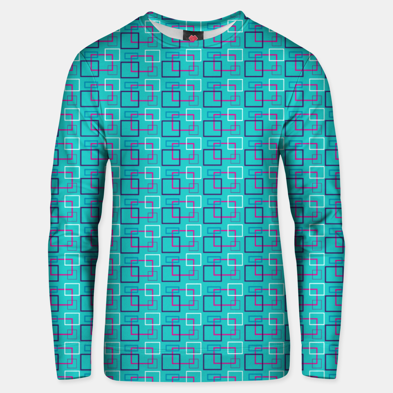 Image of Turquoise Layered Squares  Unisex sweater - Live Heroes