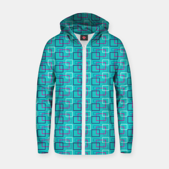 Turquoise Layered Squares  Zip up hoodie thumbnail image