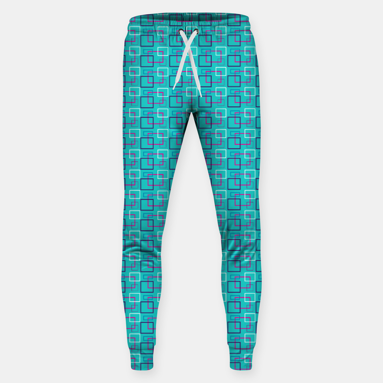 Image of Turquoise Layered Squares  Sweatpants - Live Heroes