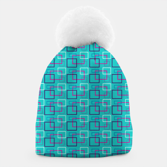Turquoise Layered Squares  Beanie thumbnail image