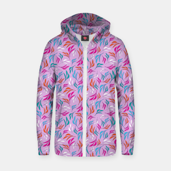 Thumbnail image of Pretty in Pink 3 Leaf Design  Zip up hoodie, Live Heroes