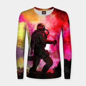 Thumbnail image of Colorful Astronaut Women sweater, Live Heroes