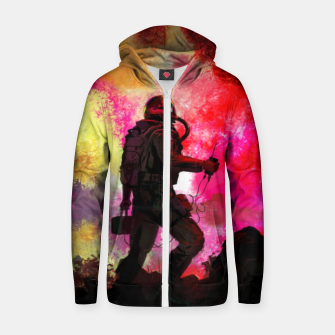 Thumbnail image of Colorful Astronaut Zip up hoodie, Live Heroes
