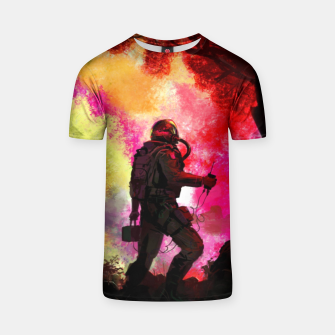 Thumbnail image of Colorful Astronaut T-shirt, Live Heroes