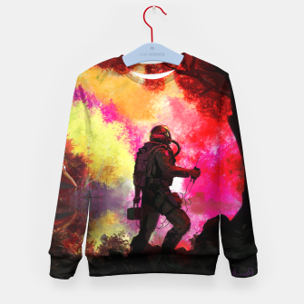 Thumbnail image of Colorful Astronaut Kid's sweater, Live Heroes