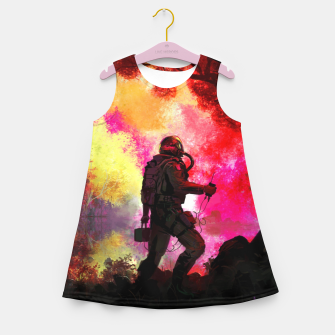 Thumbnail image of Colorful Astronaut Girl's summer dress, Live Heroes