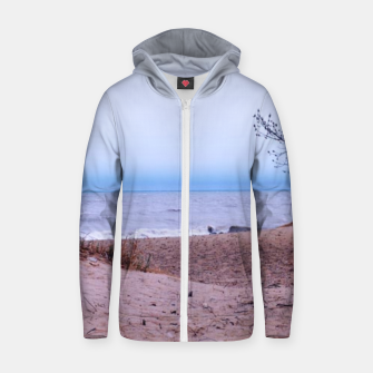 Thumbnail image of Lake Michigan Dunes Zip up hoodie, Live Heroes