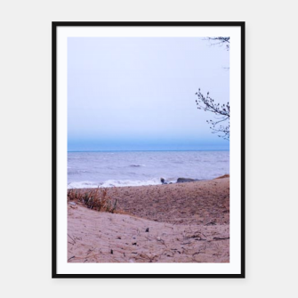 Thumbnail image of Lake Michigan Dunes Framed poster, Live Heroes