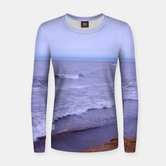 Thumbnail image of Lake Michigan Beach Waves Women sweater, Live Heroes