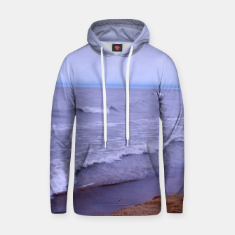 Thumbnail image of Lake Michigan Beach Waves Hoodie, Live Heroes