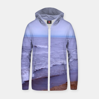 Thumbnail image of Lake Michigan Beach Waves Zip up hoodie, Live Heroes