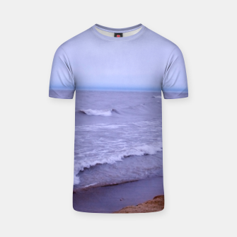 Thumbnail image of Lake Michigan Beach Waves T-shirt, Live Heroes