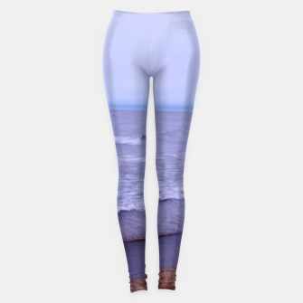 Thumbnail image of Lake Michigan Beach Waves Leggings, Live Heroes