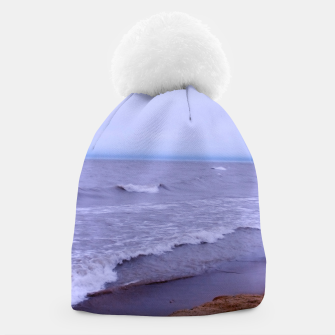 Thumbnail image of Lake Michigan Beach Waves Beanie, Live Heroes