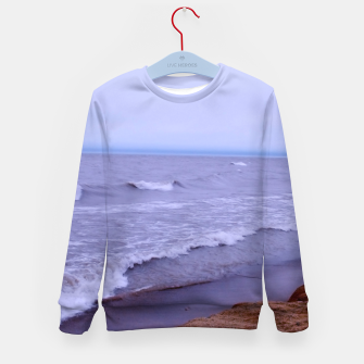 Thumbnail image of Lake Michigan Beach Waves Kid's sweater, Live Heroes