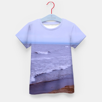 Thumbnail image of Lake Michigan Beach Waves Kid's t-shirt, Live Heroes