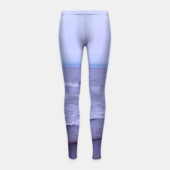 Thumbnail image of Lake Michigan Beach Waves Girl's leggings, Live Heroes