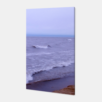 Thumbnail image of Lake Michigan Beach Waves Canvas, Live Heroes