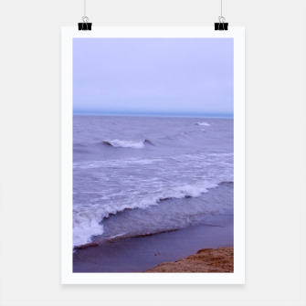 Thumbnail image of Lake Michigan Beach Waves Poster, Live Heroes