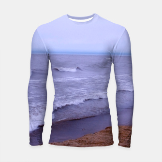 Thumbnail image of Lake Michigan Beach Waves Longsleeve rashguard , Live Heroes