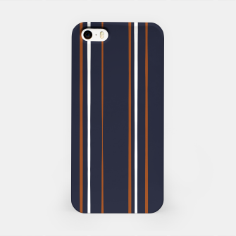 Thumbnail image of Navy and Rust Stripes iPhone Case, Live Heroes