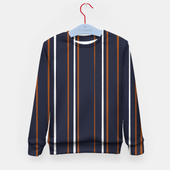 Thumbnail image of Navy and Rust Stripes Kid's sweater, Live Heroes