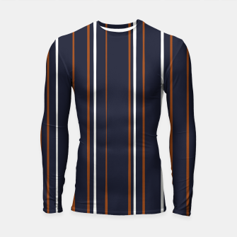 Thumbnail image of Navy and Rust Stripes Longsleeve rashguard , Live Heroes