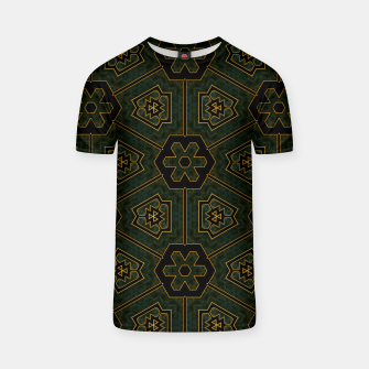 Thumbnail image of Imperial Cloth Fractal Design Pattern T-shirt, Live Heroes