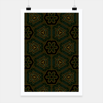 Thumbnail image of Imperial Cloth Fractal Design Pattern Poster, Live Heroes