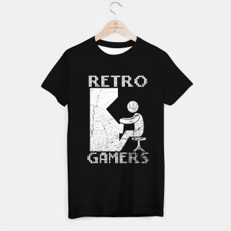 Thumbnail image of Retro Gamers Classic Games Lovers Camiseta Regular, Live Heroes