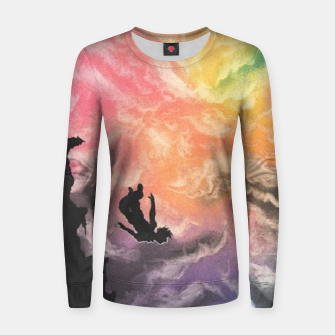 Thumbnail image of Colourful Sky Dive Women sweater, Live Heroes