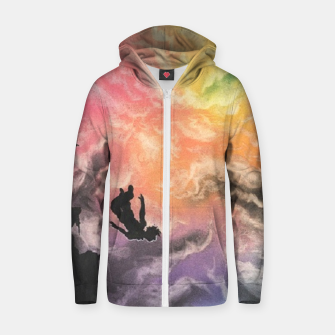 Thumbnail image of Colourful Sky Dive Zip up hoodie, Live Heroes
