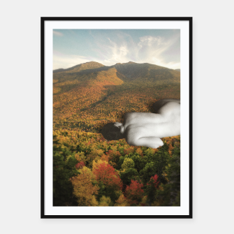 Thumbnail image of Fall Framed poster, Live Heroes