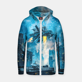 Thumbnail image of Voyager by Night Zip up hoodie, Live Heroes