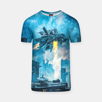 Thumbnail image of Voyager by Night T-shirt, Live Heroes