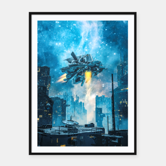 Thumbnail image of Voyager by Night Framed poster, Live Heroes